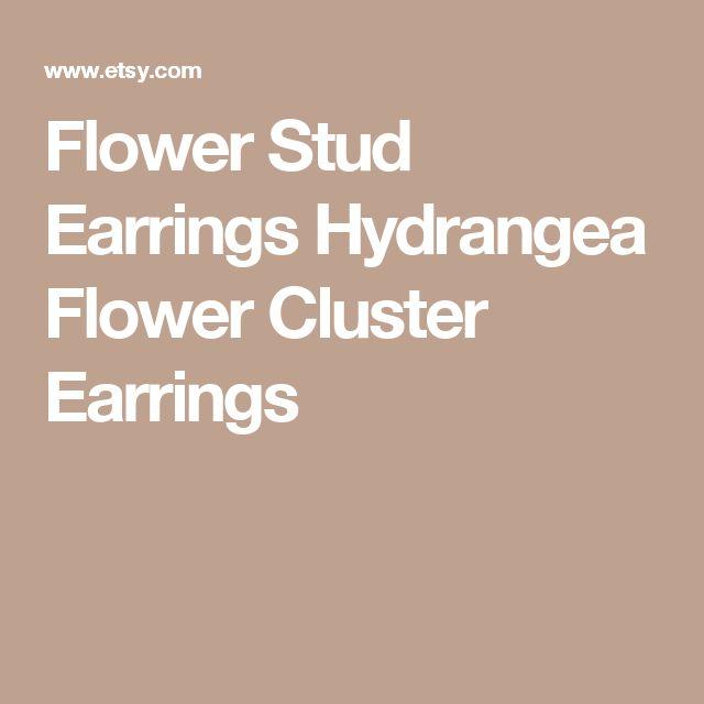 Flower Stud Earrings Hydrangea Flower Cluster Earrings
