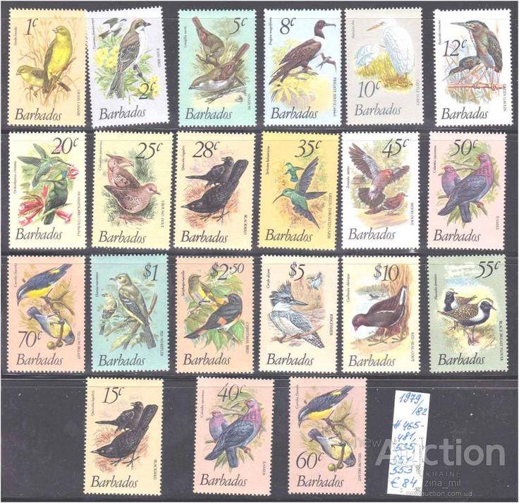 Фауна Птицы - Барбадос  1979  1982  г MNH - серия  с дополнениями -