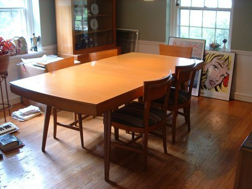 Mid century modern dining room furniture vintage euc for R way dining room furniture
