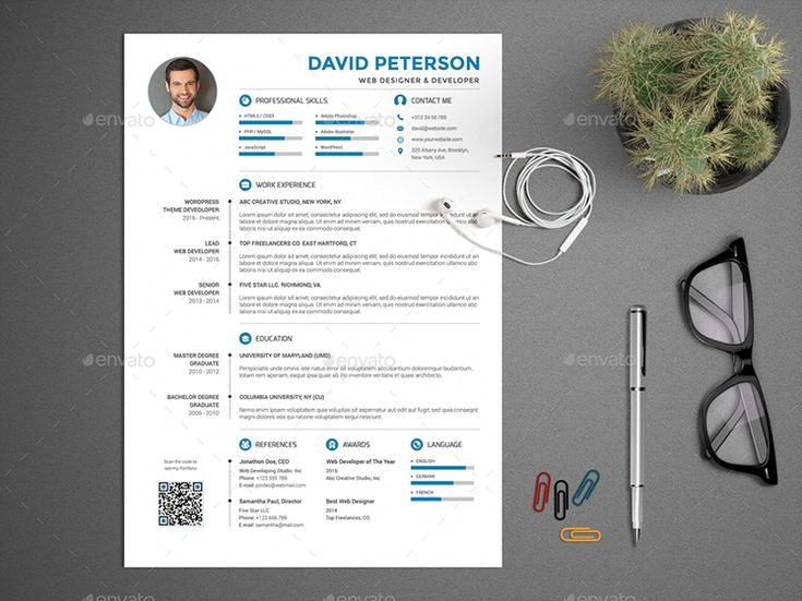 best cv template envato
