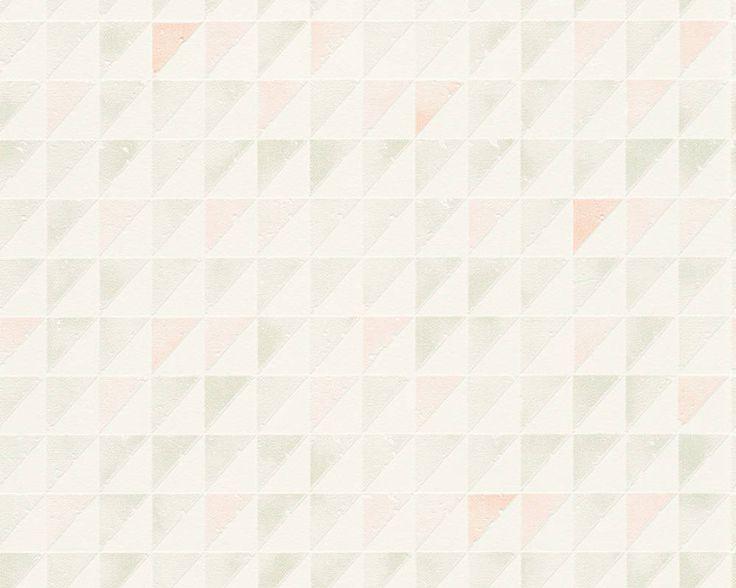Schöner Wohnen Vliestapete 324563: Tapete, Tapeten, Taphete, Tapetten, Tabeten, Grün, Orange, Weiß, Natur, Grafik, Modern, Textil, Flur, Kinder, Küche, Schlafen, Wohnen, Kinderzimmer, Schlafzimmer, Wohnzimmer, Vlies, Schöner Wohnen 9