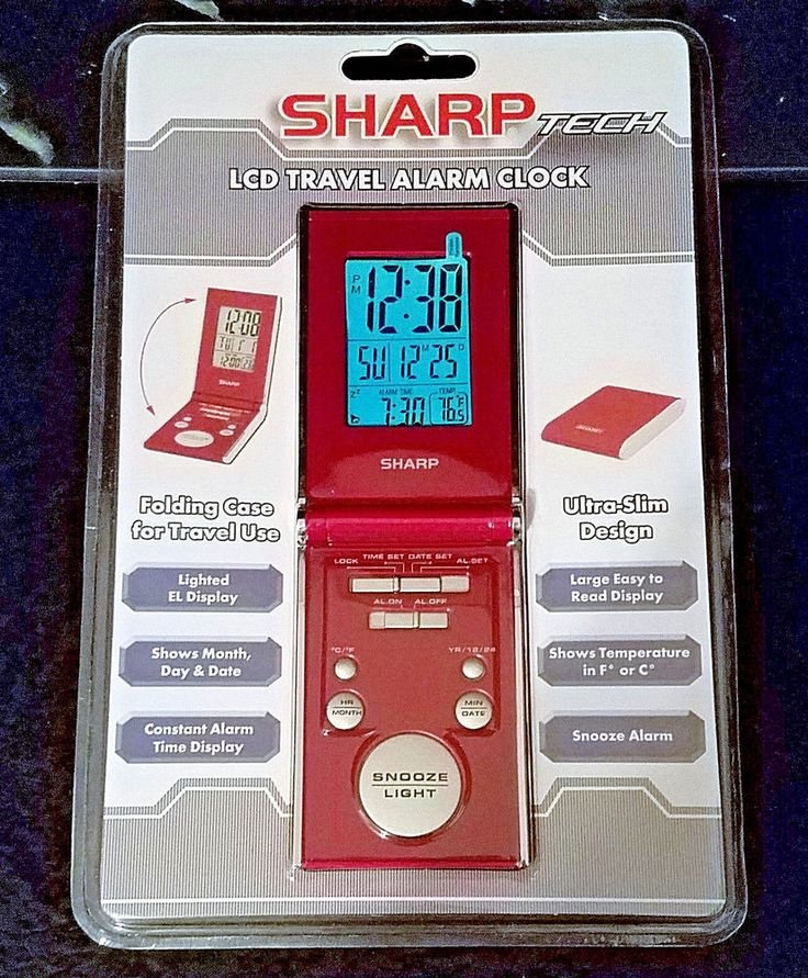 SharpTech SPC30J LCD Travel Alarm Clock with Folding RED Case-New in Package #Sharp #Contemporary