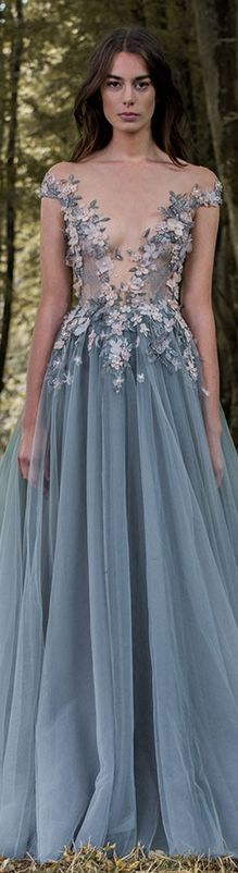 Paolo Sebastian 2016/17 Autumn Winter - Gilded Wings.  #elegant #dress