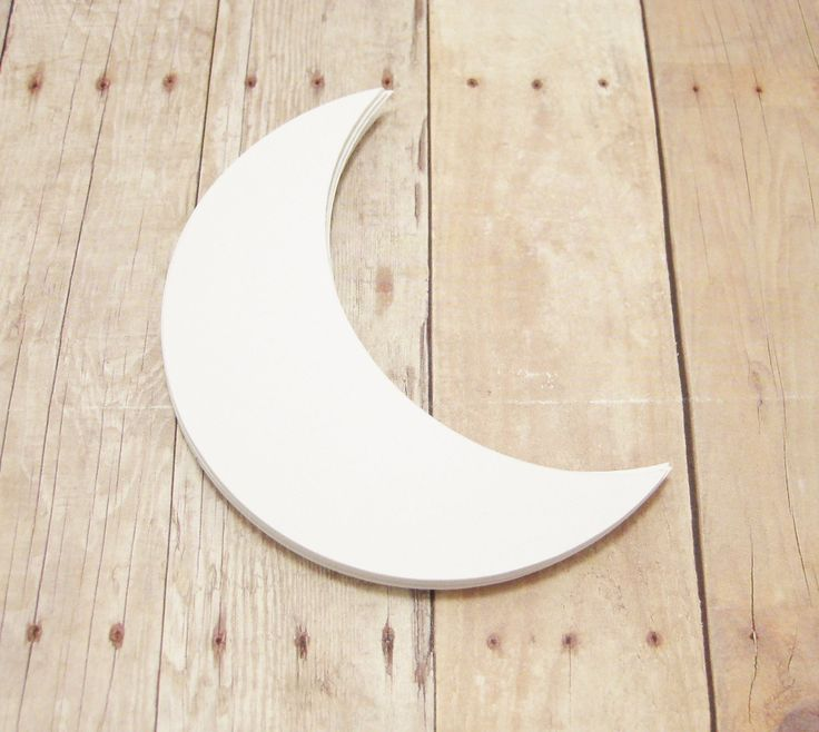 Crescent Moon Cutout-White Paper Moons-Baby Shower Decor-Scrapbooking-Kids Crafts-Classroom Decor-Half Moon Shapes by ShipIslandGreetings on Etsy