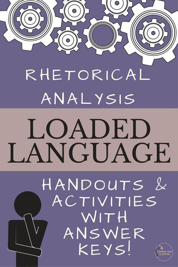 Rhetorical Analysis Handouts And Activities Critical Thinking