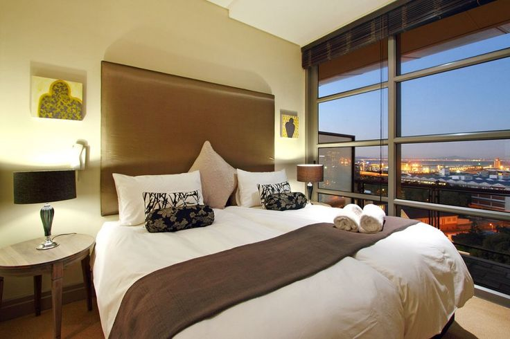 Plush bedroom interior as well as a view to die for.