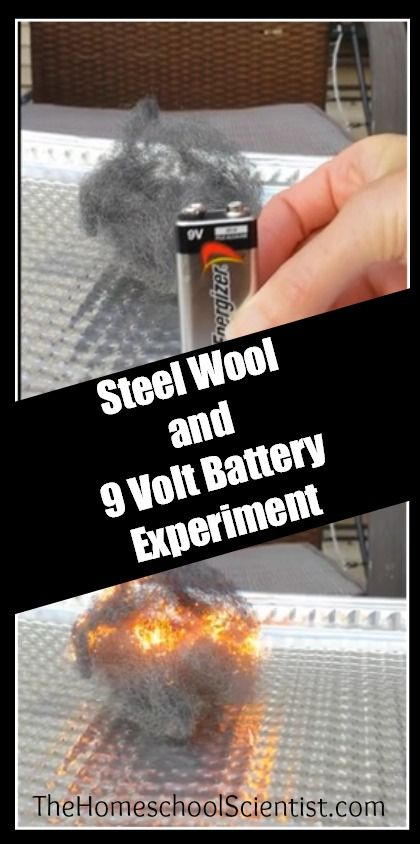 Steel Wool and 9 Volt Battery Experiment - The Home School Scientist