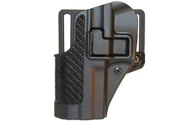 BlackHawk CQC SERPA Holster With Belt and Paddle Attachment, Fits S&W MP, Left Hand, Carbon Fiber, Black - Endless Box