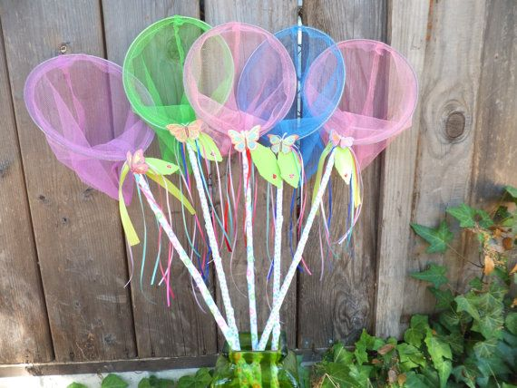 Butterfly Nets - Butterfly Birthday Favors, Fairy Catchers, Bug Party, Garden Party, Fairy Party on Etsy, $10.00