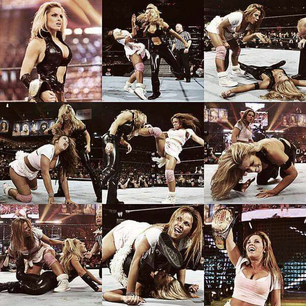 Mickie James vs Trish Stratus Wrestlemania 22 April 2, 2006