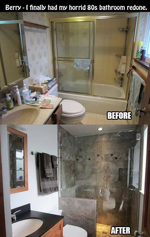 Best 25 bathroom remodeling ideas on pinterest bathroom for Updated small bathroom ideas