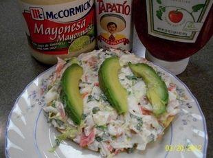 Mexican Crab Tostadas  (Tostadas de Jaiba)