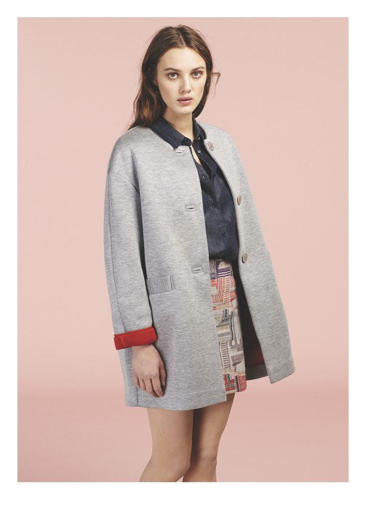 Sessùn Early Spring 2015 11 - shirt NAVARINO jacket RECOLETA skirt MAYA