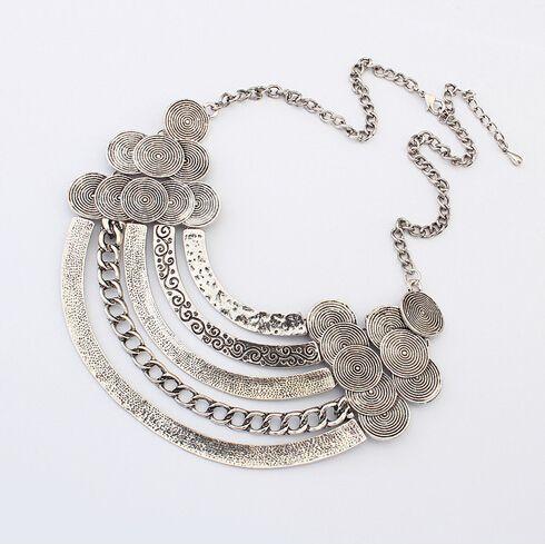 Xl617 Vintage argent de mode de bijoux de style bohème alliage millésime gland métallique pendentif collier pièce turc pour les femmes(China (Mainland))