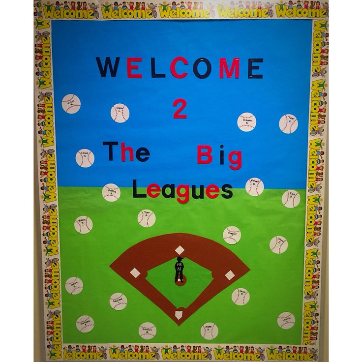 Baseball bulletin board