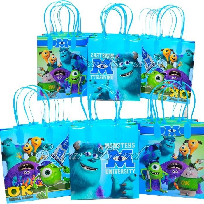 12 Monsters University Party Favor Bags Goodie Loot Tote Candy Gifts Disney | Home & Garden, Greeting Cards & Party Supply, Party Supplies | eBay!
