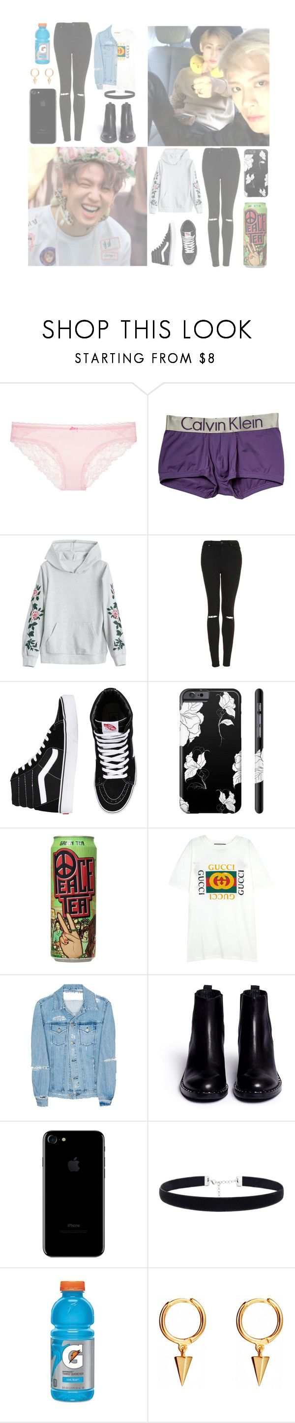 """& — "" You may not feel the same way as I do. I may never see you again, that's what I'm afraid of. Don't have the courage to tell you. With this song, let me open my heart to you. "" — &"" by heathxns ❤ liked on Polyvore featuring beauty, Victoria's Secret, Bambam, Calvin Klein Underwear, Topshop, Vans, Gucci, Acne Studios, Ash and Gatorade"