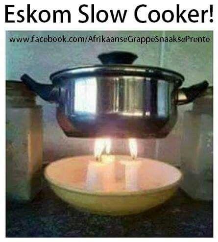 #eskom #slowcooker #humor #afrikaans #South_Africa #Africa #lag