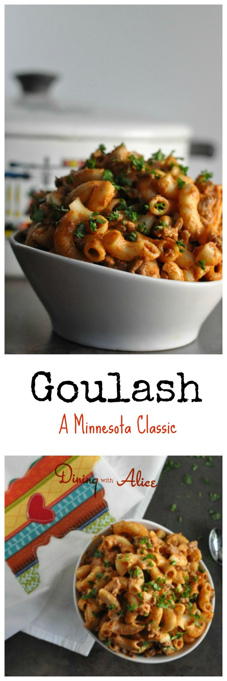 A comfort food classic, Goulash is an easy weeknight dinner option and meal that whole family will love. #goulash #minnesota #comfortfood