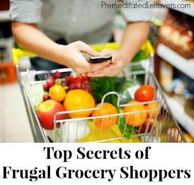 9 Secrets of Frugal Grocery Shoppers - how to find deals on groceries even when you don't have coupons. Tips for finding secret deals in your grocery store.