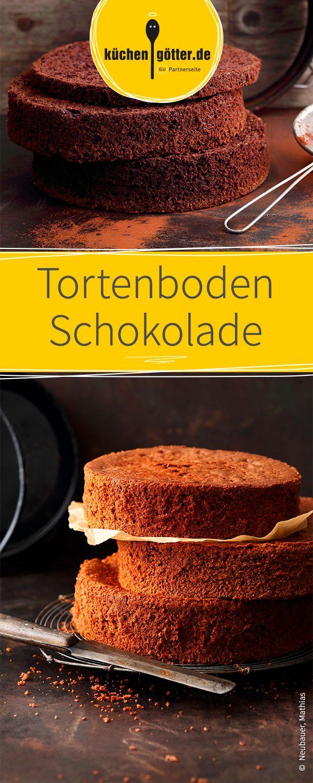 Wir zeigen euch ein leckeres Grundrezept für einen stabilen Tortenboden aus Schokolade!