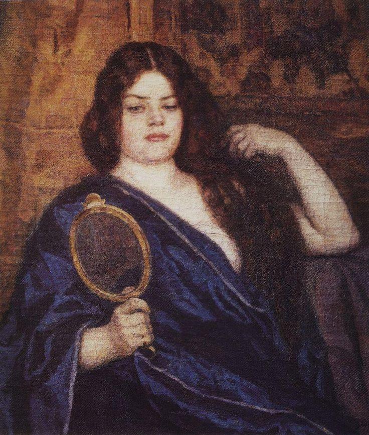 женщина Василий Суриков. Галерея живописи. Сибирячка. 1909