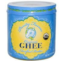 Organic Ghee Clarified Butter -  Kosher, No Transfatty Acids, Salt Free, No GMOs, Lactose and Casein Free, USDA Organic.