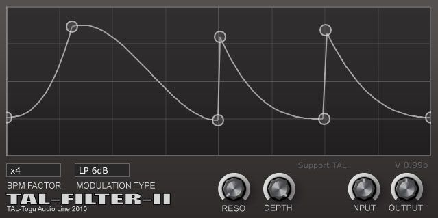 TAL-Filter 2, Free Filter plugin, Download TAL-Filter 2