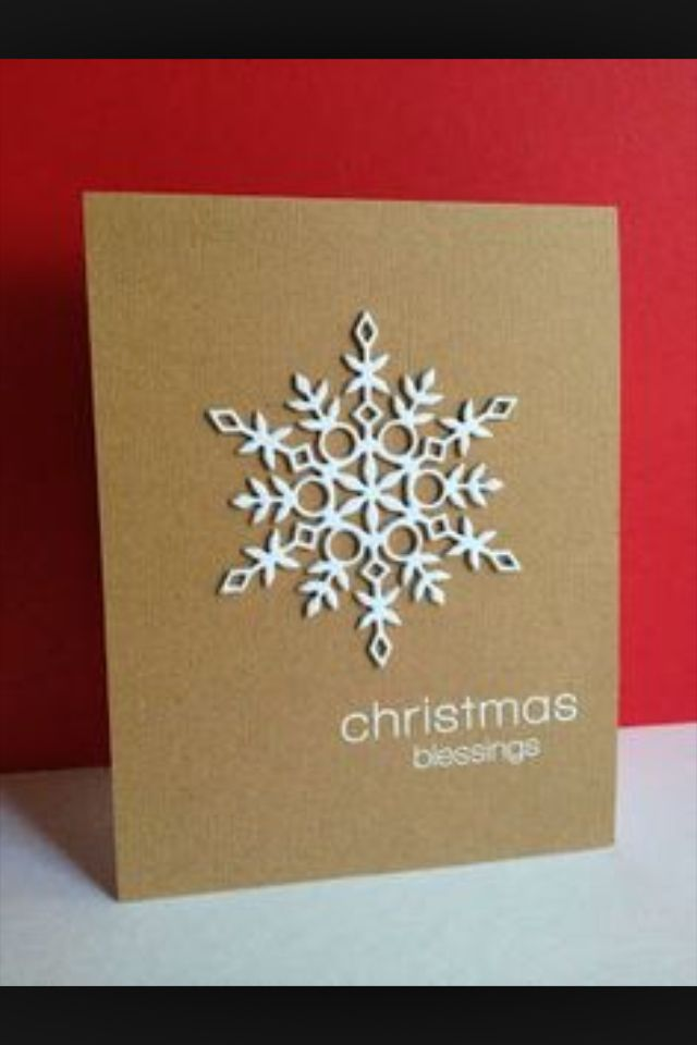 Love this striking luxury snowflake design for a handmade christmas ...