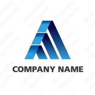 ロゴマーク「成長のA」[飛躍/信頼/AAA](コンサル、製造、設備、金融、テクノロジー)