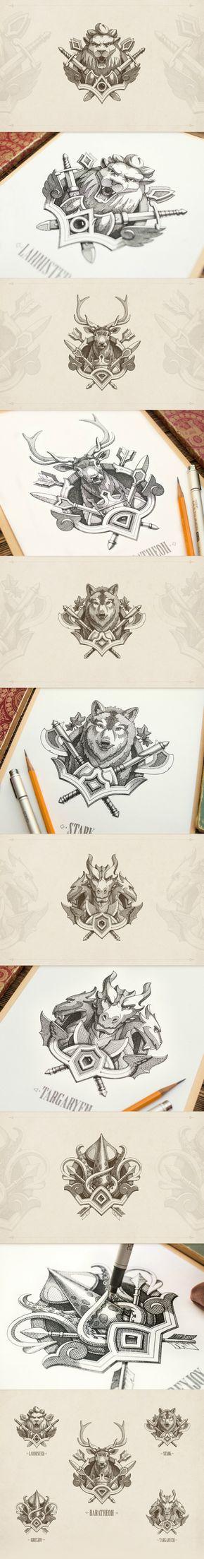 Game of Thrones emblems by NestStrix Studio