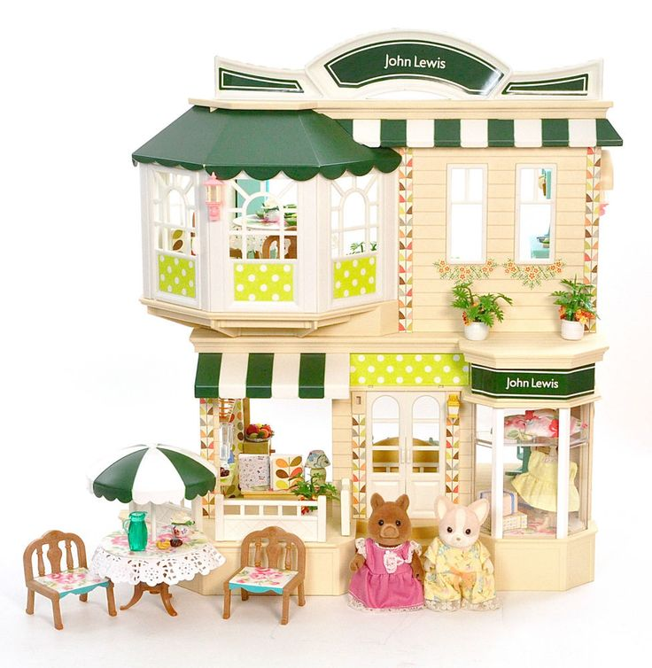*fistuff* Sylvanian Families Orla Kiely Decorated John Lewis Shop Figures + Lots