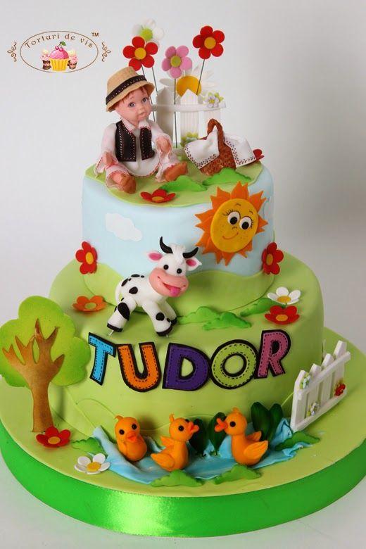 Torturi - Viorica's cakes: Tort botez Tudor
