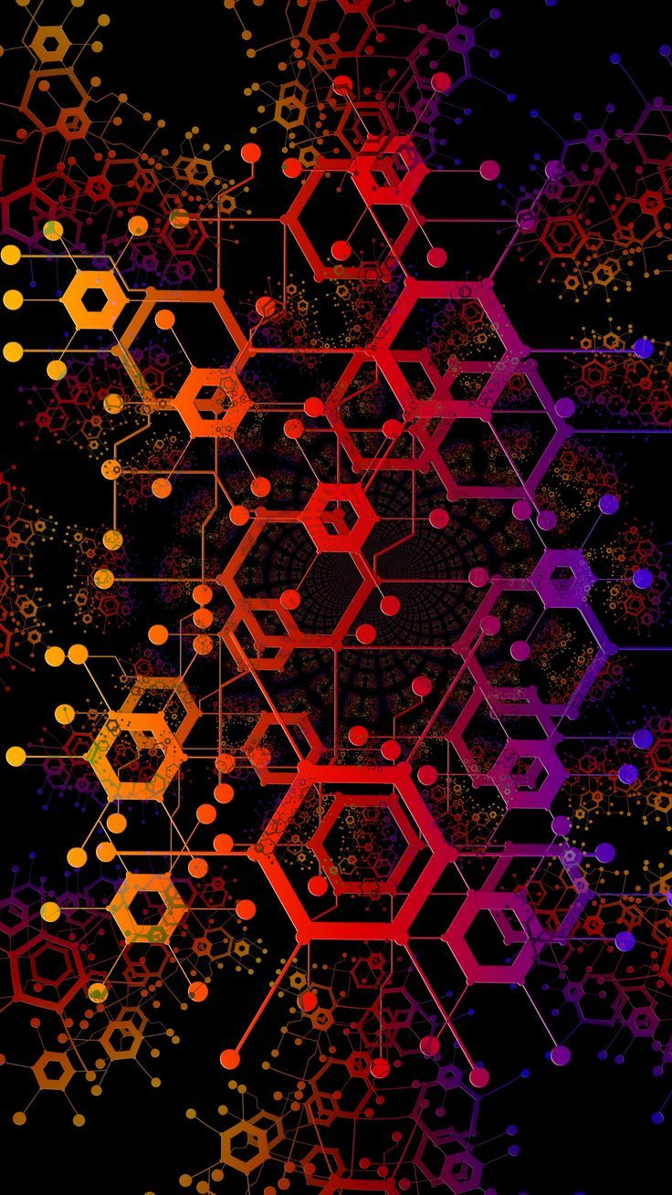 Red Geometric Abstract Psicodelic Texture Background Wallpaper Technology Wallpaper Technology Posters Colorful Wallpaper