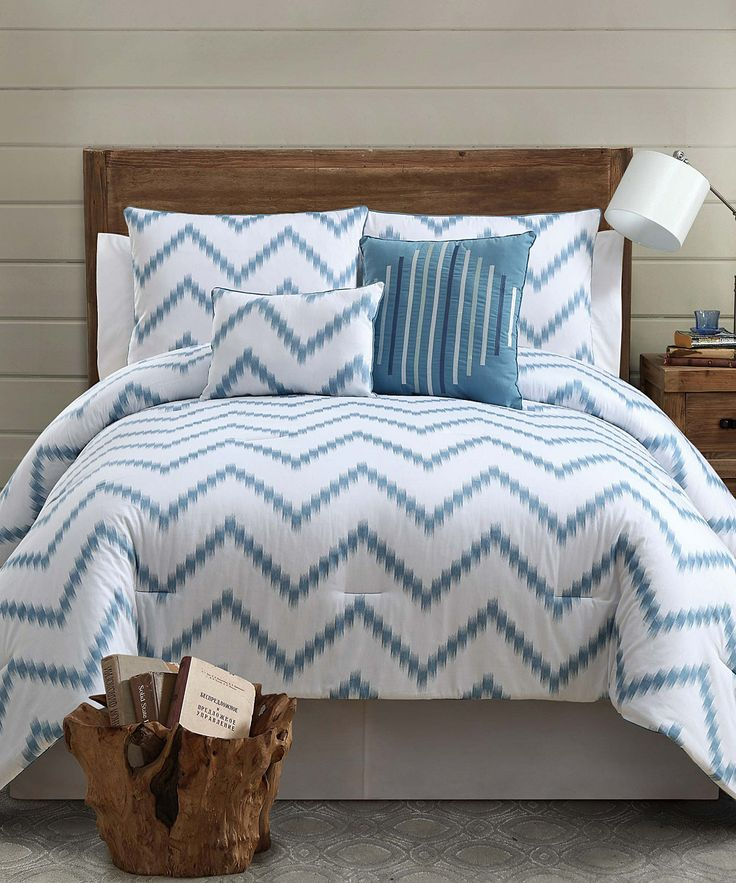 Loving This Blue Zigfield Comforter Set On Zulily Zulilyfinds Teal Bedroom Ideas
