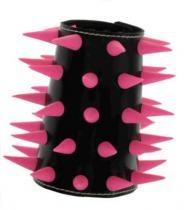 PVC & Silicone Spiked Wristbands - Studded, Leather & PVC - DCMA Collection