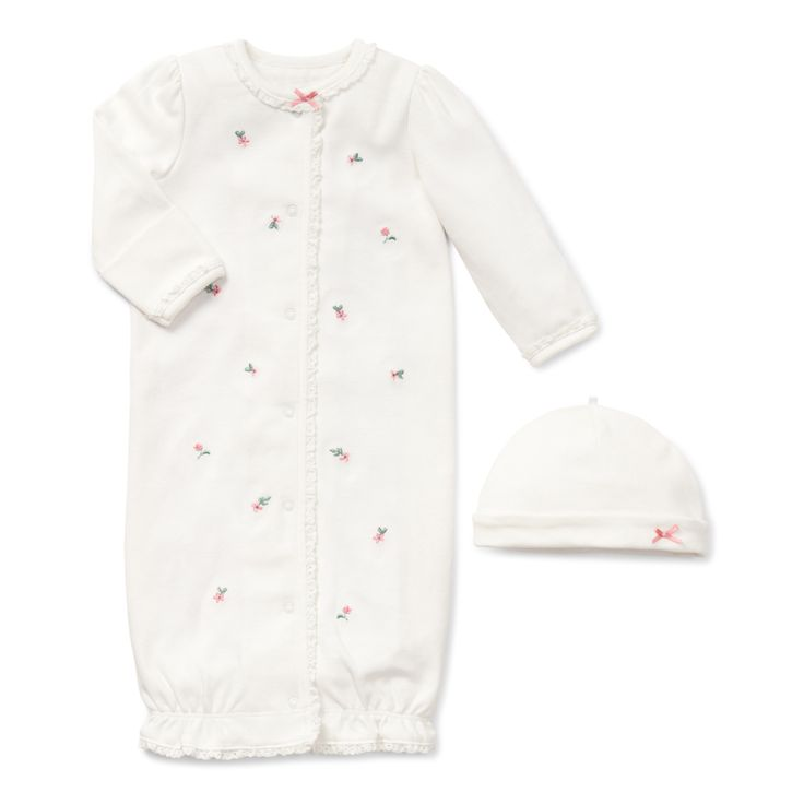 """Layette Gown or Outfit To Take New Baby Girl Home - """"Chateau Rose Gown"""""""