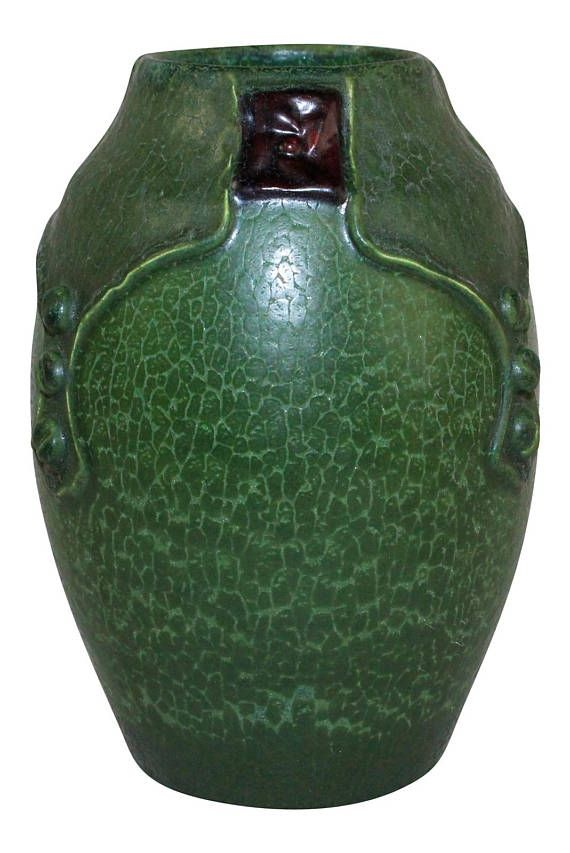 Ephraim Faience Pottery 2009 Mission Rose Vase B29 Arts