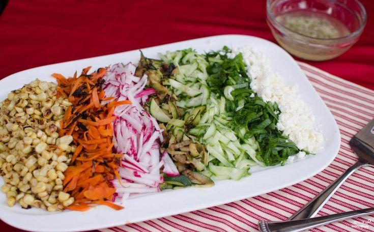 Вегетарианские салаты с плавленным сыром