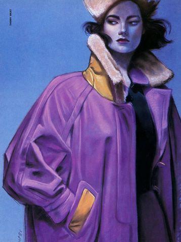 Hermès Couture 1985, illustration Thierry Bruet