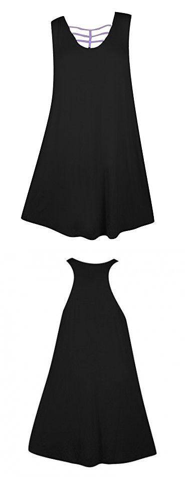 Plus Size Black Racer Back Dress --Size: 2x Color: Black