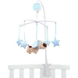 Little Puppy Cot Mobile in Blue