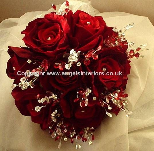 This Amount Of White Doesn T Bother Me Red Wedding Bouquets On Silk Artificial Flowers For Your Day