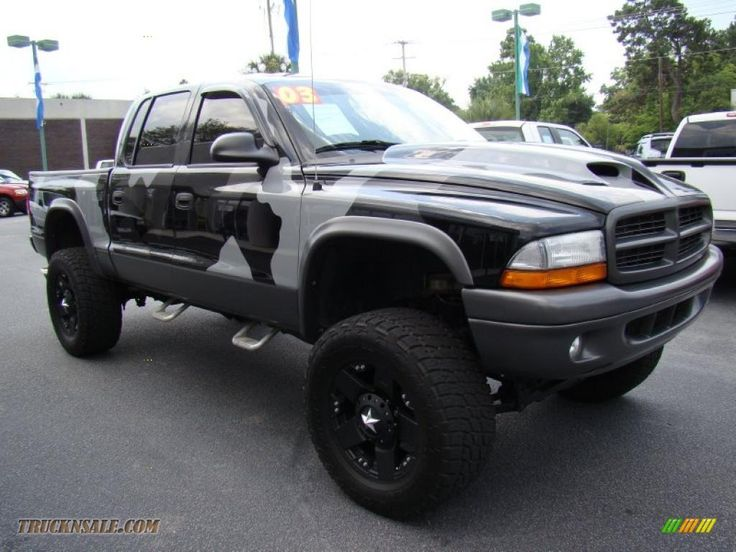 lifted 4x4 2003 Dodge Dakota SLT Quad Cab 4x4 in Bright