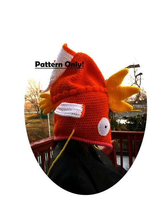 This listing is for the PDF PATTERN to make a Magikarp Crochet Hat. Have you been admiring the silly Magikarp Hats while itching to make your own? Well