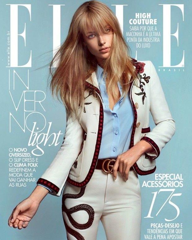 Sports Illustrated model Hannah Ferguson lands two covers of Elle Brazil April 2016 by Gustavo Zylbersztajn