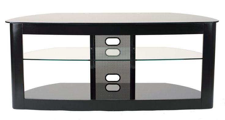 """TransDeco TD610B Flat Panel TV Stand W/ 2 Av Shelves For Up To 60"""" Plasma Or LCD/LED TVs - Black"""