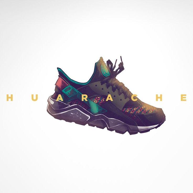 #lasviñetasereciclan #huarache #nike #kicks #illustration #