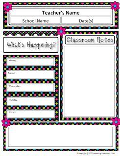 The AmazingClassroom.com Blog: Free Classroom Newsletter Template!