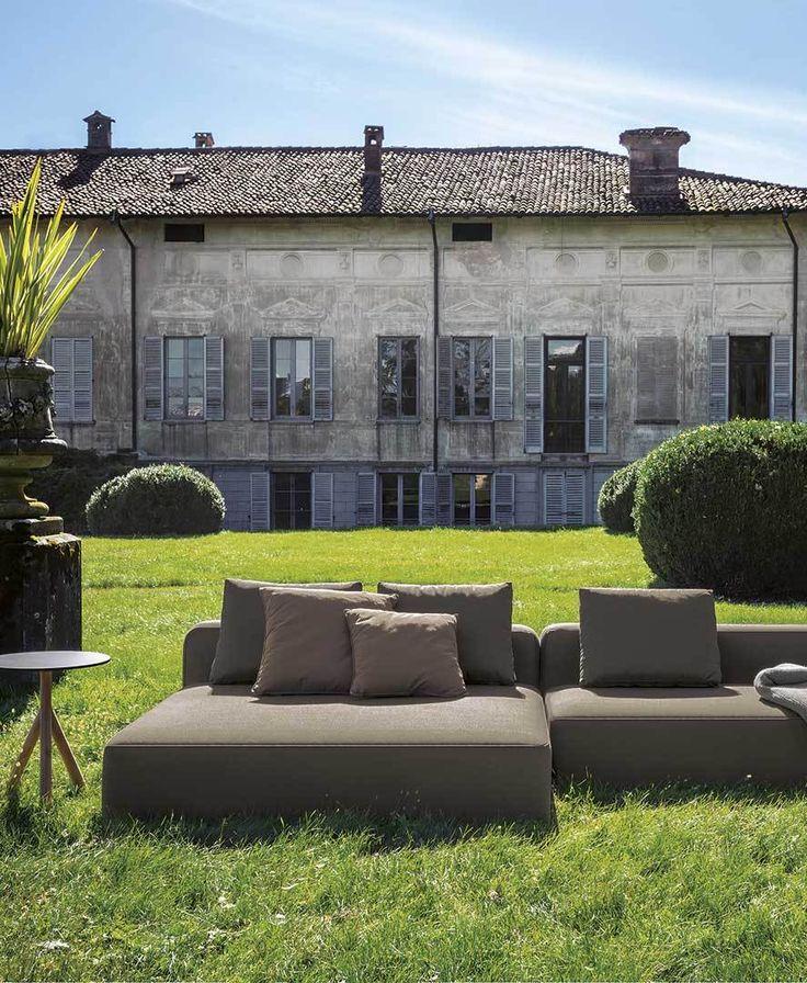 Roda   Sofa   Dandy collection   Grey   Outdoor
